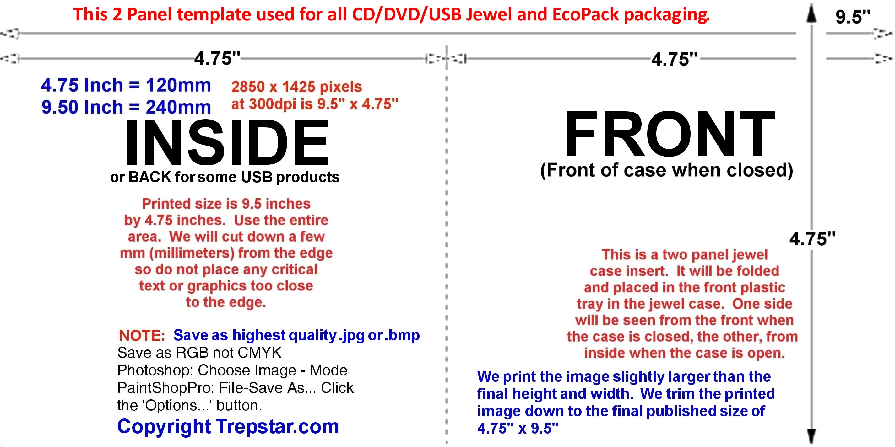Disc Image and printed inserts Templates – Jewel Case Template